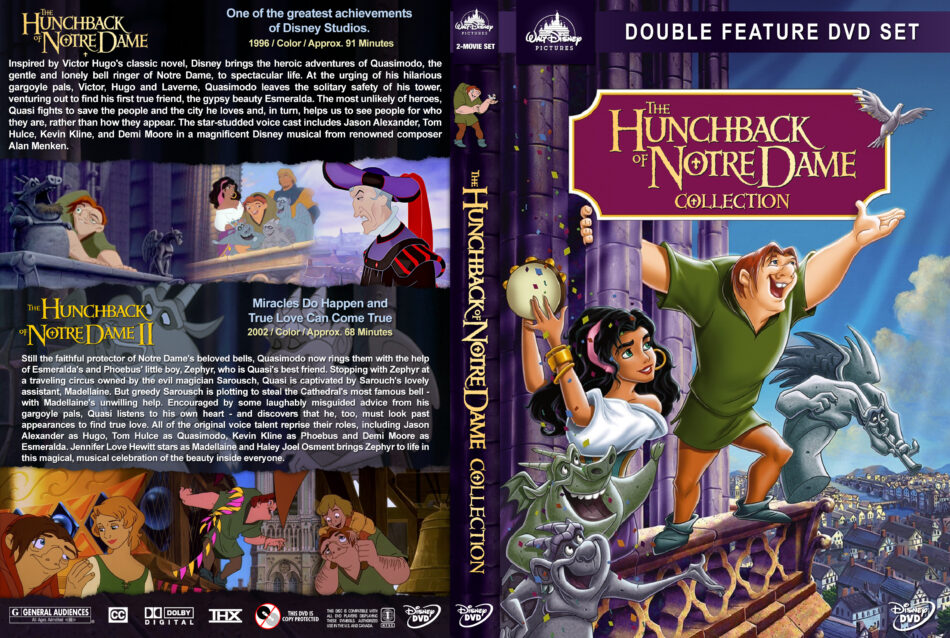 The Hunchback Of Notre Dame Collection Dvd Cover 1996 2002 R1 Custom