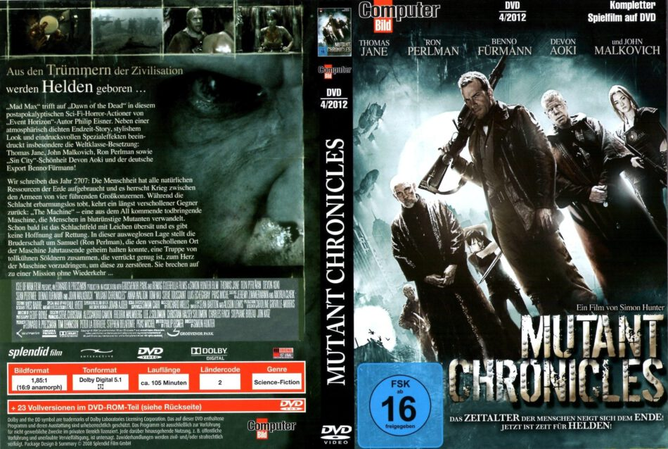 Mutant Chronicles dvd cover & custom labels (2008) R2 German