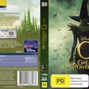 Oz The Great And Powerful 3D (2013) R4 Blu-Ray Cover & Label