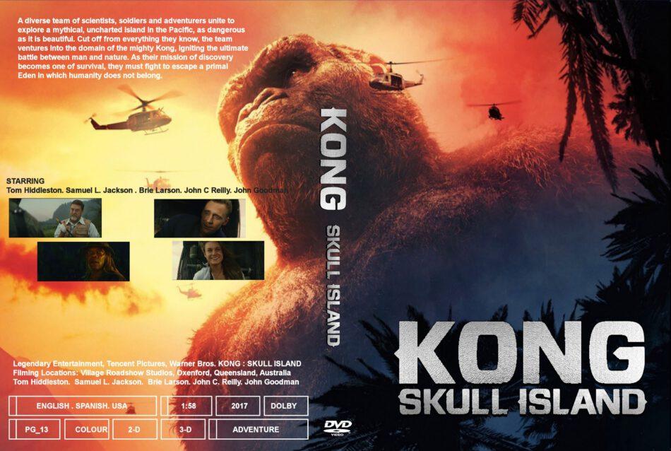 Kong Skull Island Dvd Cover Label 2017 R0 Custom