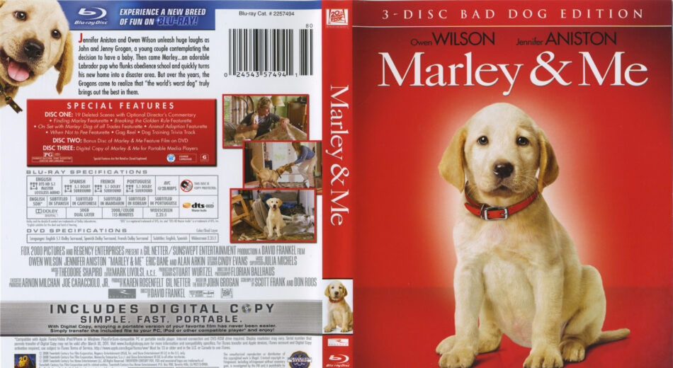 Marley Me Blu Ray Cover Labels 2008 R1