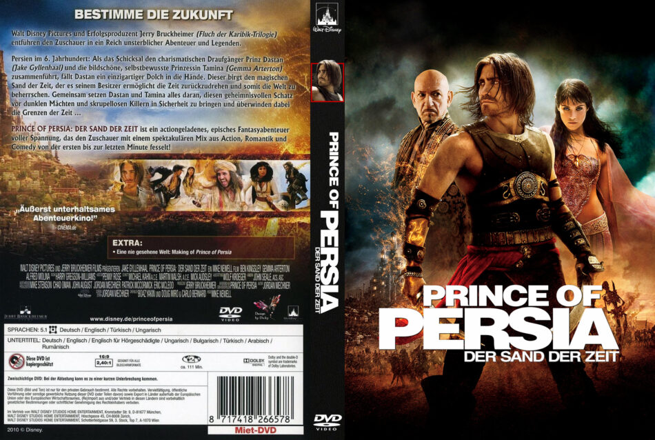 Prince Of Persia The Sands Of Time Dvd Cover Labels 2010 R2 German Custom