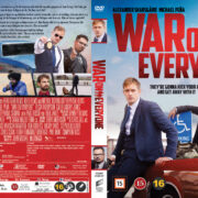 War on Everyone (2016) R2 Nordic Retail DVD Cover + custom label