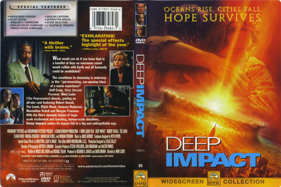 Deep Impact Dvd Cover Label 1998 R1