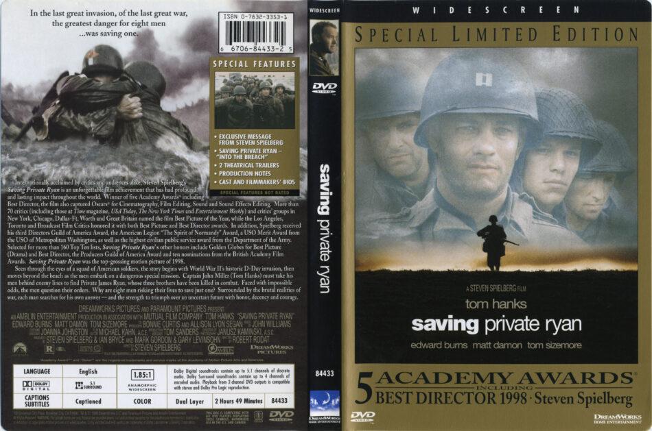Saving Private Ryan Dvd Cover Label 1998 R1