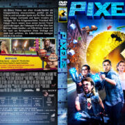 Pixels (2015) R2 German Custom Cover & Label