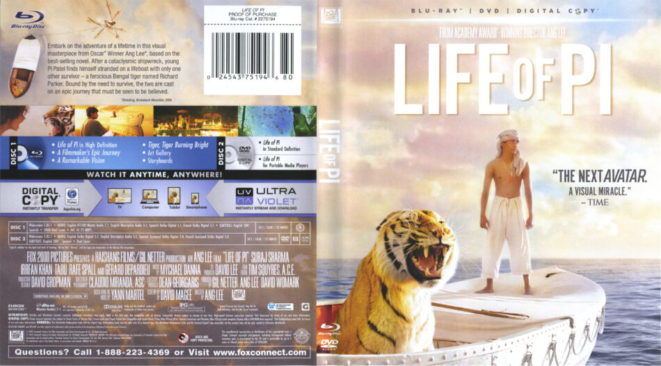 Life Of Pi Blu Ray Cover Labels 2012 R1