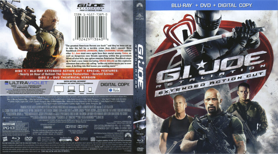 G I Joe Retaliation Blu Ray Cover Labels 2013 R1