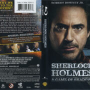 Sherlock Holmes: A Game Of Shadows (2011) R1 Blu-Ray Cover & Label