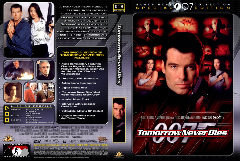 Tomorrow Never Dies Dvd Cover 1997 R1