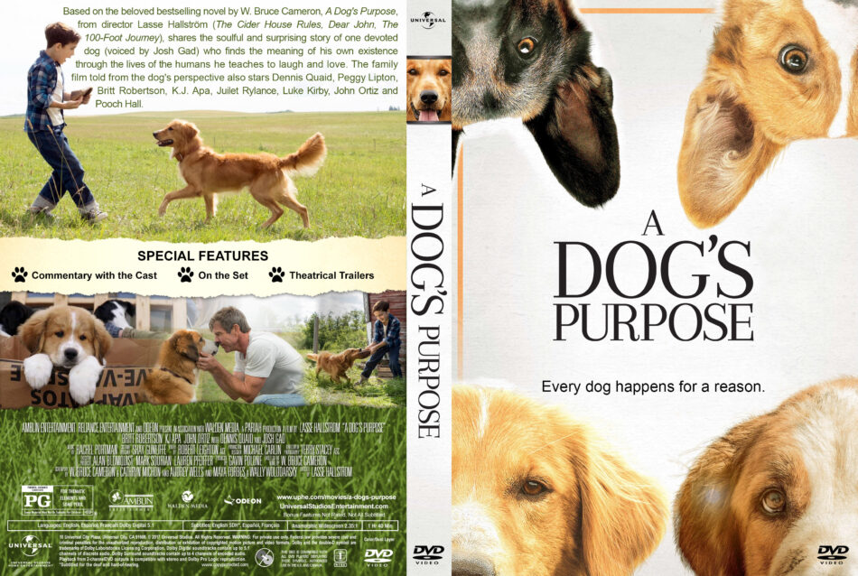 A Dog S Purpose Dvd Cover Label 2017 R1 Custom V3