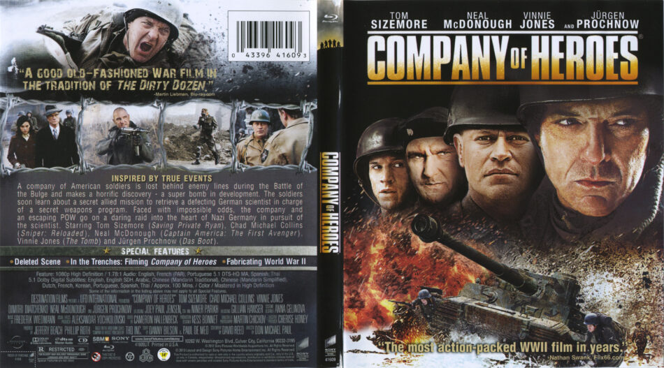 Company Of Heroes Blu Ray Cover Label 2013 R1