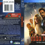 Iron Man 3 (2013) R1 Blu-Ray Cover & Label