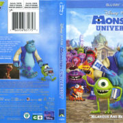 Monsters University (2013) R1 Blu-Ray Cover & Labels