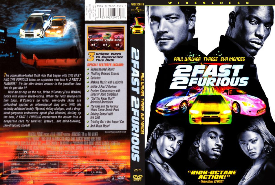 2 Fast 2 Furious Dvd Cover 2003 R1