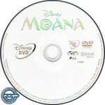 Moana (2016) R4 DVD Label