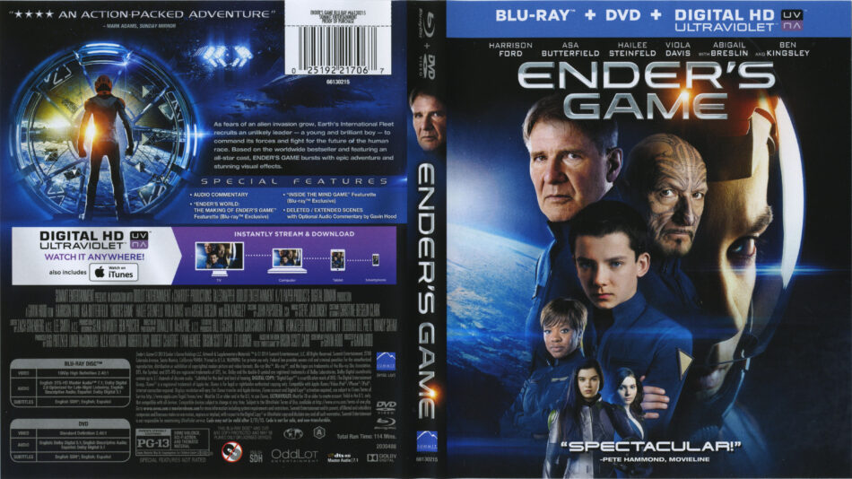 Ender's Game blu-ray cover & labels (2013) R1