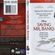 Saving Mr. Banks (2013) R1 Blu-Ray Cover & Label