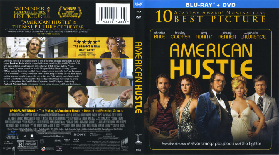 American Hustle Blu Ray Cover Labels 2013 R1