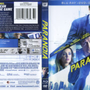 Paranoia (2013) R1 Blu-Ray Cover & Labels