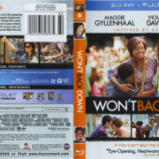 Won't Back Down (2012) R1 Blu-Ray Cover & Label