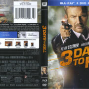 3 Days To Kill (2014) R1 Blu-Ray Cover & Labels