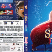 Sing 3D (2016) R2 German Custom Blu-Ray Cover & Labels