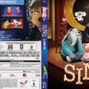 Sing (2016) R2 German Custom Blu-Ray Cover & Label