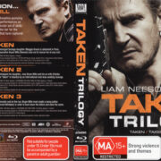 Taken Trilogy (2014) R4 Blu-Ray Cover Cover & Labels