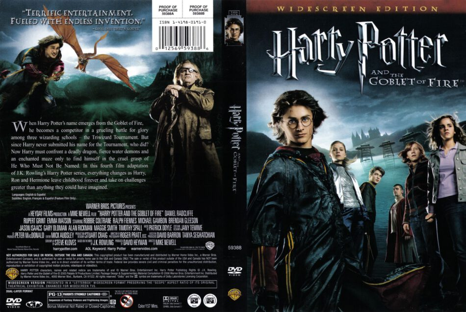 Harry Potter And The Goblet Of Fire Dvd Cover 2005 R1