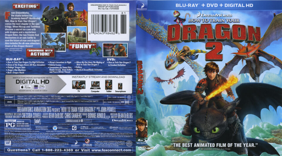 How To Train Your Dragon 2 Blu Ray Cover Label 2014 R1