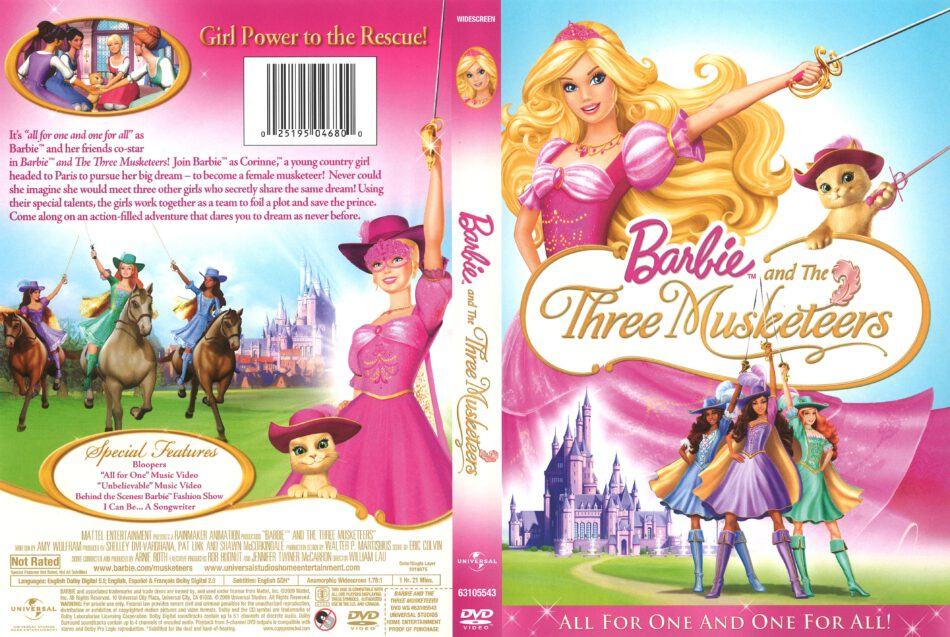 Barbie And The Three Musketeers Dvd Cover 2009 R1