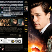 Allied (2016) R2 Nordic Custom Blu-Ray Cover + Label