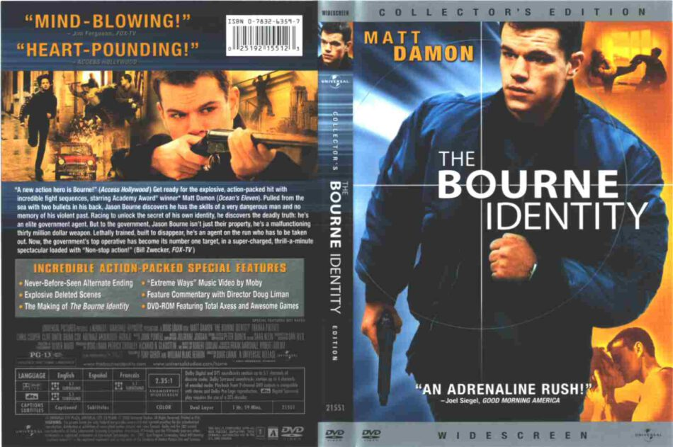 The Bourne Identity Dvd Cover 2002 R1