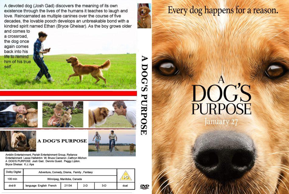 A Dog S Purpose Dvd Cover Label 2017 R0 Custom