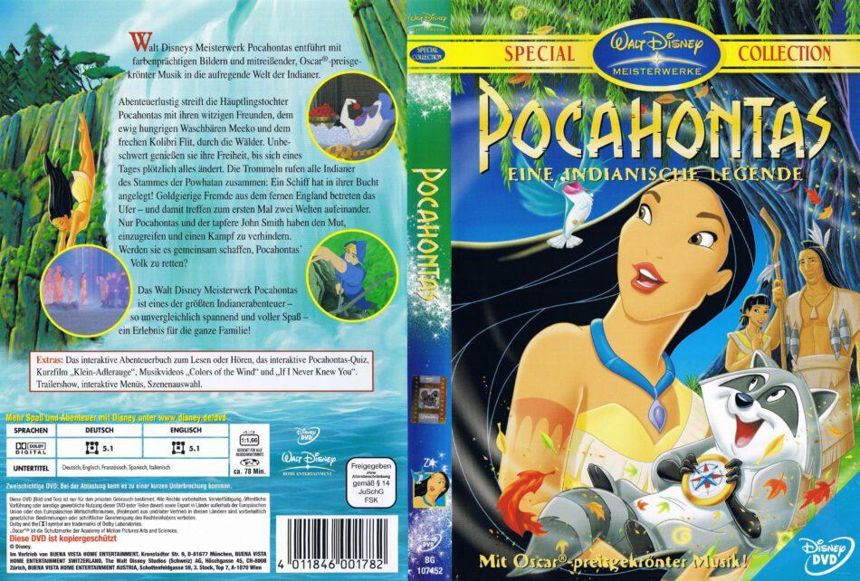 Pocahontas Dvd Cover Label 1995 R2 German