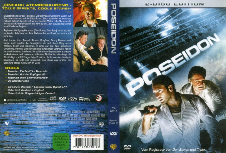 Poseidon Dvd Cover Label 2006 R2 German