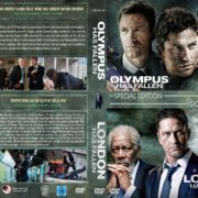 Olympus has Fallen / London has Fallen (Double Feature) (2013/2016) R2 GERMAN Custom DVD Cover