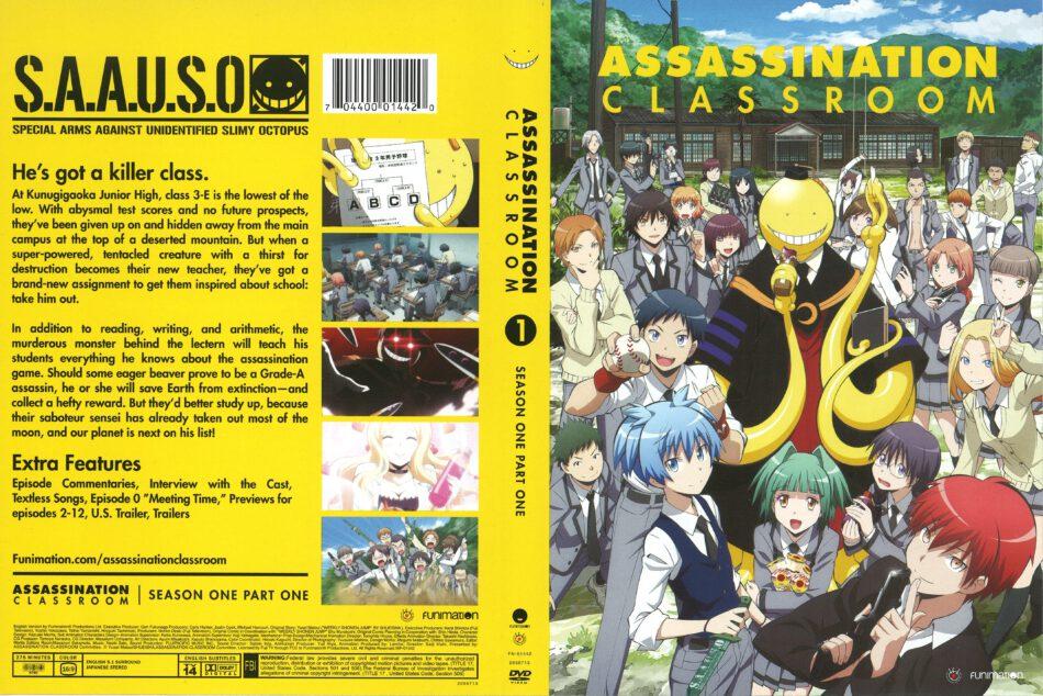 Assassination Classroom Season 1 Part 1 dvd cover (2015) R0