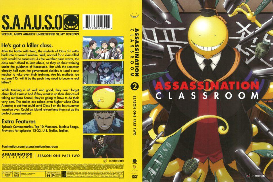 Assassination Classroom Season 1 Part 2 dvd cover (2015) R0