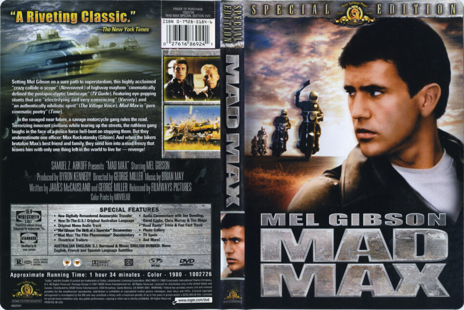 Mad Max dvd cover (1979) R1