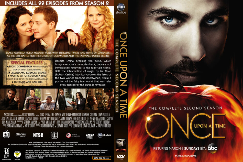 Once Upon A Time - Season 2 dvd cover (2012) R1 Custom