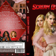 Scream Queens Staffel 1 (2016) R2 German Custom Cover & Labels