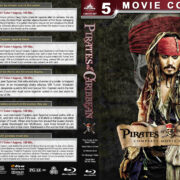 Pirates of the Caribbean: Complete Movie Collection (2003-2017) R1 Custom Blu-Ray Cover