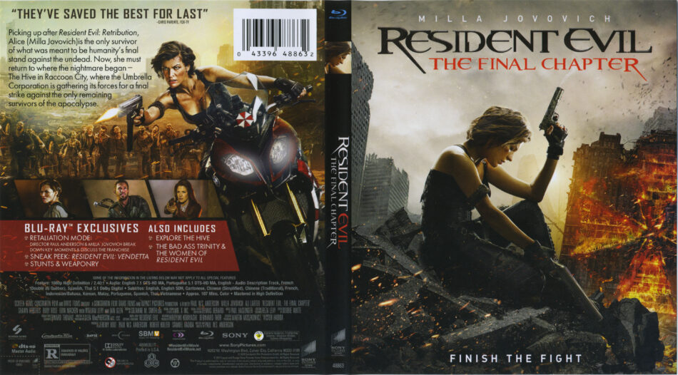 Resident evil the final chapter blu ray cover label 2016 r1 - Resident evil final chapter 4k ...