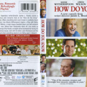 How Do You Know (2010) R1 Blu-Ray Cover & Label