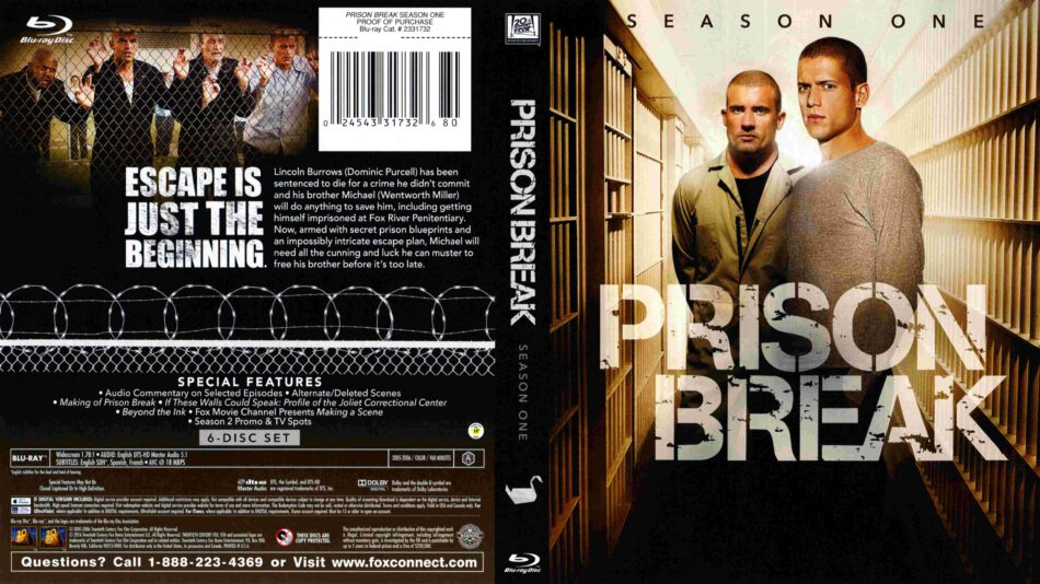 Prison Break Season 01 Blu Ray Cover 2005 R1