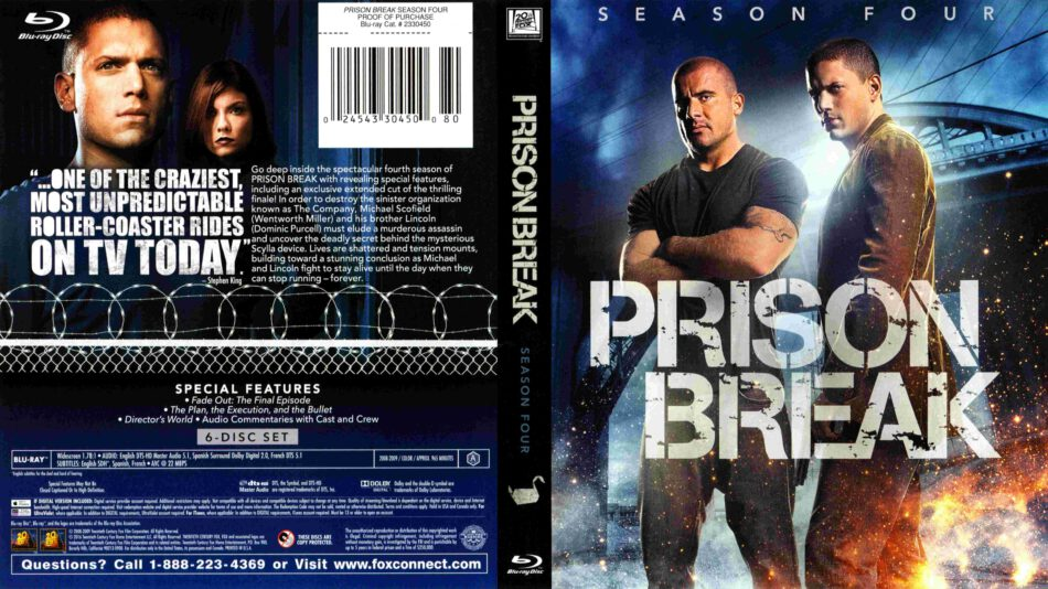 Prison Break Season 04 Blu Ray Cover 2008 R1
