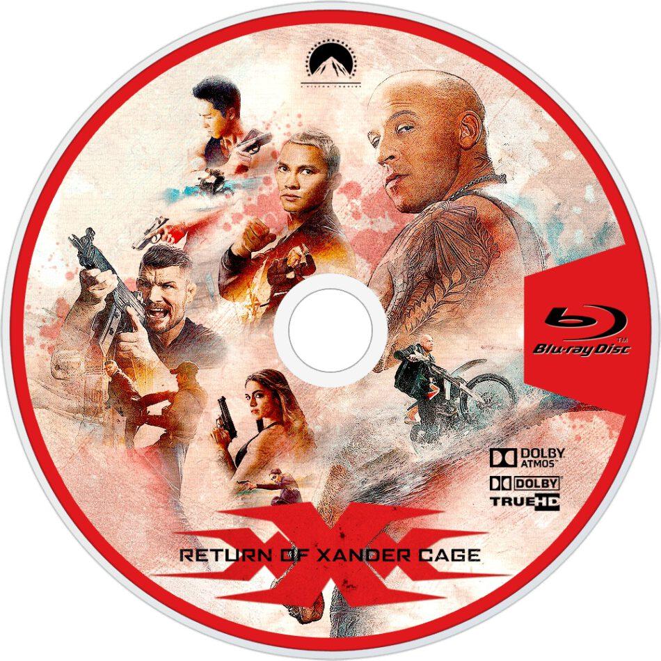 Xxx Return Of Xander Cage Blu Ray Label 2017 R1 Custom