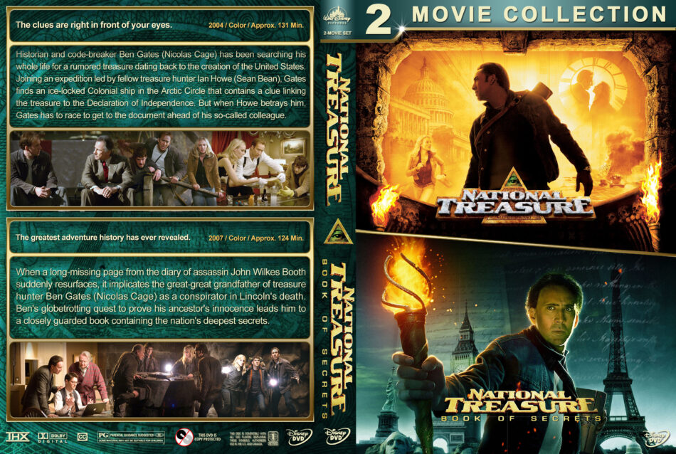 National Treasure Double Feature Dvd Cover 2004 2007 R1 Custom